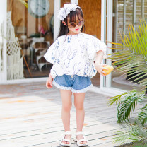 trousers Xiaomi candy female 80cm,90cm,100cm,110cm,120cm,130cm Tassel denim shorts, fun Print Shirt summer shorts Europe and America There are models in the real shooting Culotte High waist other Don't open the crotch 12 months, 3 years, 6 years, 18 months, 2 years, 5 years, 4 years Chinese Mainland