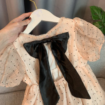 Dress Sweet pink (in stock), white (in stock) female Xiaomu 1 (for 80cm), 2 (for 90cm), 3 (for 100cm), 4 (for 110cm), 5 (for 120cm), 6 (for 130cm) Other 100% summer Korean version Short sleeve Dot other A-line skirt 12 months, 18 months, 2 years old, 3 years old, 4 years old, 5 years old