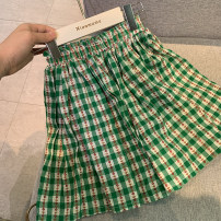 skirt 1 (for 80cm), 2 (for 90cm), 3 (for 100cm), 4 (for 110cm), 5 (for 120cm), 6 (for 130cm) Vanilla green (pre sold to warehouse on April 20) Other / other female Cotton 90% other 10% summer skirt Korean version other other other