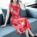 Dress Summer of 2018 XS M L XL XXL XXXL Mid length dress singleton  Sleeveless commute Crew neck Broken flowers Socket Big swing routine 30-34 years old Vivience Korean version More than 95% Chiffon other Other 100% Pure e-commerce (online only)