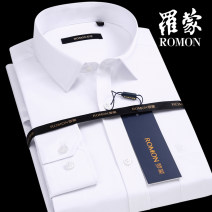 shirt Business gentleman Romon / Romon routine square neck Long sleeves standard go to work Four seasons middle age Polyester 60% cotton 40% Business Formal  2018 Solid color Color woven fabric