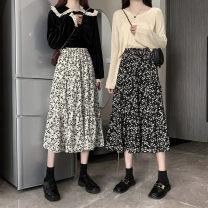 skirt Summer 2021 Average size White, black, q Versatile High waist Splicing style Decor Type A 18-24 years old 71% (inclusive) - 80% (inclusive) other Other / other other
