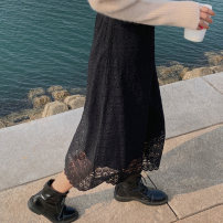 Women's large Winter 2020 Apricot black S M L commute Straight cylinder Solid color Korean version Three dimensional cutting sz5cO Qingchuan 18-24 years old longuette Other 100% Pure e-commerce (online only) Princess Dress