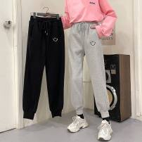 Casual pants Gray, black M,L,XL Winter 2020 trousers Haren pants High waist commute thickening 18-24 years old 96% and above other Korean version pocket
