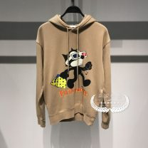 Sweater Fashion City Others khaki S,M,L,XL,XXL Animal design Socket Plush Crew neck winter easy leisure time youth American leisure routine B2BF94266 other printing No process