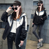 short coat Spring 2021 L XL 2XL Apricot black Long sleeves routine routine singleton  easy commute routine Hood zipper Solid color 25-29 years old 72 changes / 72 transformer 96% and above other Other 100% Pure e-commerce (online only)