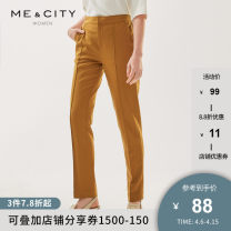 Casual pants 155/62A 155/64A 160/66A 160/68A 165/72A 170/74A Spring 2021 trousers Straight pants Natural waist routine 25-29 years old Me&City cotton Same model in shopping mall (sold online and offline)