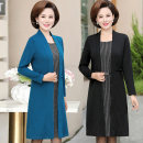 Middle aged and old women's wear Autumn of 2019 Red, blue, black XL 2XL 3XL 4XL 5XL fashion suit easy Fake two pieces other 40-49 years old Socket moderate Crew neck Medium length routine LHC2019A-475\25 Orchid porcelain Nail bead other Other 100% 96% and above Pure e-commerce (online only)
