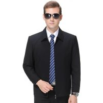 Jacket Oana  Youth fashion 1911 black and blue, one for distribution 165,170,175,180,185,190 ordinary Syncytial type Other leisure Spring and Autumn 1911A3-53 Long sleeves Wear out Lapel routine Regular sleeve More than two bags) Side seam pocket