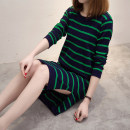 Wool knitwear Spring 2021 S M L XL XXL XXXL Long sleeves singleton  Socket other More than 95% Medium length Thin money commute easy Low crew neck routine stripe Socket Korean version Clothes are enough Other 100% Pure e-commerce (online only)