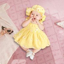 Dress female Jeilcolor / giacora 66cm 73cm 80cm 90cm 100cm Cotton 100% cotton A-line skirt JKL2034 Class A 3 months 6 months 12 months 18 months