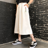 skirt Summer 2020 S M L average code Black skirt white skirt stripe T-shirt longuette commute High waist A-line skirt Solid color Type A 18-24 years old UBQS55454 71% (inclusive) - 80% (inclusive) knitting Feimu polyester fiber Embroidery Retro Polyester 75% cotton 25% Pure e-commerce (online only)
