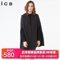 sweater Spring of 2019 S M Grey dark brown Long sleeves Cardigan singleton  Medium length wool 91% (including) - 95% (excluding) other Regular commute routine Solid color Shawl type 30-34 years old ICB KRCYLW0315 Button Wool 94% polyamide fiber (nylon) 5% polyurethane elastic fiber (spandex) 1%