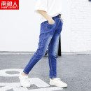 trousers NGGGN female Recommended height 110cm recommended height 120cm recommended height 130cm recommended height 140cm recommended height 150cm recommended height 160cm spring and autumn trousers leisure time There are models in the real shooting Jeans Leather belt middle-waisted Denim NY6B6832