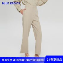 Casual pants Camels 155/60A/XS 160/64A/S 165/68A/M 170/72A/L 175/76A/XL Spring 2021 trousers Straight pants Natural waist commute Thin money 25-29 years old 96% and above blue erdos wool Ol style wool Wool 100% Same model in shopping mall (sold online and offline)