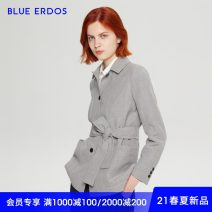 short coat Spring 2021 155/76A/XS 160/80A/S 165/84A/M 170/88A/L Light grey Long sleeves routine routine singleton  Straight cylinder Versatile routine square neck Single breasted Solid color 25-29 years old blue erdos 51% (inclusive) - 70% (inclusive) Frenulum B215J0018 wool