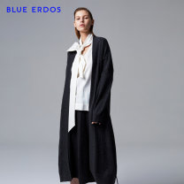 Windbreaker Autumn of 2018 90 95 100 dark grey Long sleeves routine have more cash than can be accounted for commute Single breasted V-neck routine Solid color Straight cylinder Retro blue erdos 25-29 years old Frenulum 51% (inclusive) - 70% (inclusive) wool Wool 70% Cashmere (cashmere) 30%