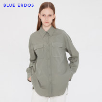 shirt Grey green 155/76A/XS 160/80A/S 165/84A/M 170/88A/L Spring 2020 cotton 51% (inclusive) - 70% (inclusive) Long sleeves commute Regular V-neck Single row multi button Solid color 25-29 years old Straight cylinder blue erdos Ol style Same model in shopping mall (sold online and offline)