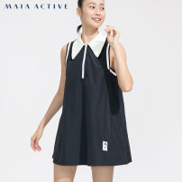 Sports dress 202DS060 female MAIA ACTIVE Extreme black S (adult) m (adult) l (adult) Autumn 2020 Sleeveless Socket Lapel Brand logo yes Sports & Leisure Sports life