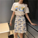 Women's large Summer 2021 Two piece set S M L XL Two piece set commute Short sleeve Korean version TYU1T56R1YY Qionlliea / love 25-29 years old Other 100%