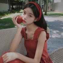 Women's large Summer 2021 Black red S M L XL 87487ygvrtxwasqw Qionlliea / love Other 100%