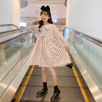 Dress Please don't take a big picture of white foot code female Merelcast 120cm 130cm 140cm 150cm 160cm 170cm Other 100% spring and autumn Korean version Long sleeves Dot other A-line skirt A7570 Class B Spring 2021 Chinese Mainland Zhejiang Province Huzhou City
