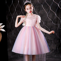 Dress female 100cm 110cm 120cm 130cm 140cm 150cm Cotton 95% other 5% summer princess Short sleeve Solid color cotton A-line skirt Class B Summer 2021 2 years old, 3 years old, 4 years old, 5 years old, 6 years old, 7 years old, 8 years old, 9 years old, 10 years old, 11 years old, 12 years old
