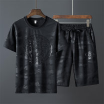 T-shirt Youth fashion thin M L XL 2XL 3XL 4XL 5XL 6XL 7XL 8XL TFU Short sleeve Crew neck easy daily summer AAV Polyester 95% polyurethane elastic fiber (spandex) 5% youth Summer of 2019 polyester fiber