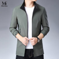 Jacket Other / other Business gentleman Black, dark green 170,175,180,185,190,195 routine standard Other leisure autumn Long sleeves Wear out High collar Business Casual youth routine Zipper placket 2021 Straight hem No iron treatment Closing sleeve Solid color More than two bags) Zipper bag