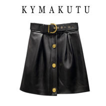 skirt Winter 2020 S,M,L,XL black Short skirt commute High waist A-line skirt Solid color Type A 18-24 years old 51% (inclusive) - 70% (inclusive) Sheepskin other Button Korean version