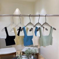 Vest sling Spring 2021 Classic black, apricot, aqua blue, cream yellow, Avocado Green S, M singleton  have cash less than that is registered in the accounts Self cultivation street camisole Solid color 25-29 years old 31% (inclusive) - 50% (inclusive) nylon S21126059 Yang lotus