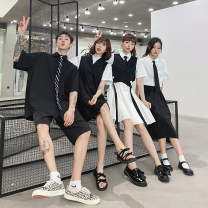 student uniforms Summer 2020 elbow sleeve Korean version skirt 18-25 years old other 96% and above
