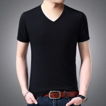 T-shirt Youth fashion Dark blue V-neck, black V-neck, White V-Neck, gray V-neck, army green V-neck thin M,L,XL,2XL,3XL Yiwei Short sleeve Hood Self cultivation Other leisure summer youth Business Casual other 2019 Solid color other other other other