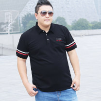 Polo shirt Other / other Fashion City routine easy Other leisure summer Short sleeve tide routine Large size Cotton 95% polyurethane elastic fiber (spandex) 5% 2021 stripe cotton other other More than 95%