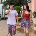 Couple swimsuit Follow the wind and the waves M,L,XL,XXL Men's, women's Others, polyester, spandex, nylon female