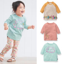 T-shirt Pink, off white, light green, yellow, white, light blue, pink flowers Qianqujia 80cm,90cm,100cm,110cm,120cm,130cm female spring and autumn three quarter sleeve Crew neck leisure time No model nothing cotton Broken flowers Cotton 100% Class A Sweat absorption Chinese Mainland Shandong Province