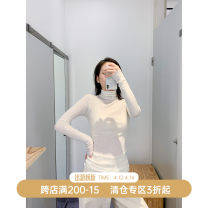 T-shirt XS,S,M,L Autumn 2020 Long sleeves High collar Self cultivation Regular routine commute wool 96% and above 25-29 years old Simplicity Solid color