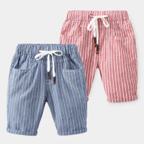 trousers Other / other male 90cm for size 100, 100cm for Size 110, 110cm for Size 120, 120cm for Size 130 and 130cm for size 140 Blue striped pants, red striped pants summer Pant leisure time No model Casual pants Leather belt middle-waisted cotton Don't open the crotch Other 100% kz3066 kz3066