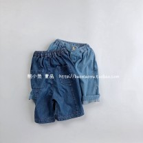 trousers Other / other neutral 80cm,90cm,100cm,110cm,120cm,130cm Light blue, dark blue summer Pant middle-waisted Cotton denim 18 months, 2 years old, 3 years old, 4 years old, 5 years old, 6 years old, 7 years old