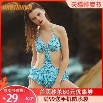 one piece  Heatwave / heat wave M L Pink light purple yellow Steel strap breast pad 82215-1 Spring of 2019 female