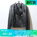 leather clothing Personal clothes Autumn of 2019 M,L,XL,2XL black have cash less than that is registered in the accounts Long sleeves Self cultivation street V-neck zipper routine 90824C Sheepskin Asymmetry 25-29 years old 96% and above