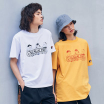 T-shirt Youth fashion Black, white, yellow routine S,M,L,XL,XS Abandoned Kesai Short sleeve Crew neck easy daily summer 17ss005 Cotton 100% teenagers routine tide other 2017 other printing cotton Creative interest other Fashion brand 90% (inclusive) - 95% (inclusive)