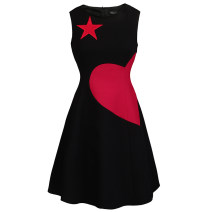 Dress Spring of 2019 Black love dress XS S M L XL Short skirt singleton  Sleeveless commute Crew neck High waist Solid color zipper A-line skirt Others 25-29 years old Type X JUNGLE ME Ol style M18LYQ026. 91% (inclusive) - 95% (inclusive) polyester fiber Pure e-commerce (online only)