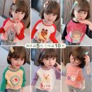 T-shirt Other / other 80cm,90cm,100cm,110cm,120cm,130cm female spring and autumn Long sleeves Crew neck Korean version There are models in the real shooting nothing cotton Cartoon animation Other 100% other other
