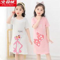 Home skirt / Nightgown C791AE7B41 Spring of 2019 princess 3 years old, 4 years old, 5 years old, 6 years old, 7 years old, 8 years old, 9 years old, 10 years old female At home summer Beijirog / polar fleece Cotton 100% cotton Class B Chinese Mainland Zhejiang Province Hangzhou