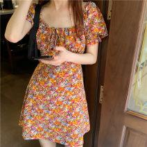 Dress Summer 2021 Picture color, white bra M,L,XL,2XL,3XL Short skirt singleton  Short sleeve Type A
