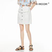 skirt Summer 2020 S M L Ben white light blue Short skirt commute Natural waist A-line skirt Solid color Type A 25-29 years old STXQA90175 More than 95% X--MOOM cotton pocket Cotton 100% Same model in shopping mall (sold online and offline)