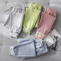 trousers Beijirog / Arctic velvet neutral 110cm 120cm 130cm 140cm 150cm spring and autumn trousers leisure time There are models in the real shooting Casual pants Leather belt middle-waisted cotton Don't open the crotch Cotton 68% polyester 30% polyurethane elastic fiber (spandex) 2% Spring 2020