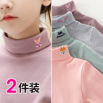 T-shirt Beijirog / Arctic velvet 100cm 110cm 120cm 130cm 140cm 150cm neutral spring and autumn Long sleeves High collar Korean version There are models in the real shooting nothing cotton Solid color Cotton 96.6% polyurethane elastic fiber (spandex) 3.4% h3414A Class A Autumn 2020 Chinese Mainland