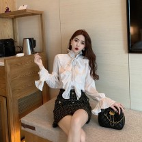 Fashion suit Autumn of 2019 S. M, average size Top, skirt Other / other
